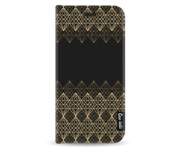 Golden Diamonds - Wallet Case Black Samsung Galaxy A8 (2018)