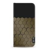 Casetastic Wallet Case Black Samsung Galaxy A8 (2018) - Golden Hexagons