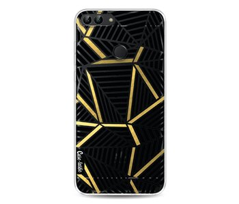Abstraction Lines Black Gold Transparent - Huawei P Smart