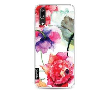 Watercolor Flowers - Huawei P20