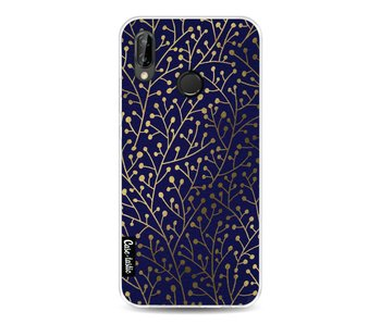 Berry Branches Navy Gold - Huawei P20 Lite