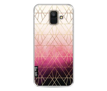 Pink Ombre Triangles - Samsung Galaxy A6 (2018)