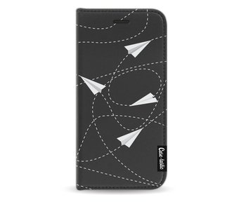 Paperplanes - Wallet Case Black Apple iPhone 8