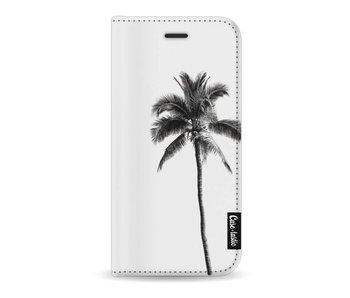 Palm Tree Transparent - Wallet Case White Apple iPhone 8