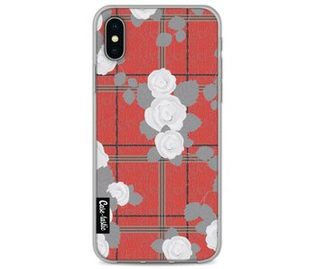 Flower Tartan Red - Apple iPhone X / XS