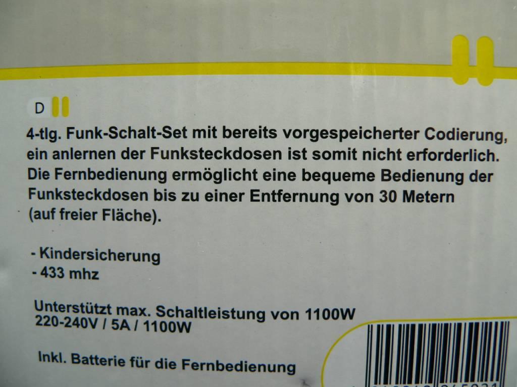goobay Funksteckdosen Starterkit 3x1 (3x Schuko-Funk-Steckdosen und 1x Fernbedienung)