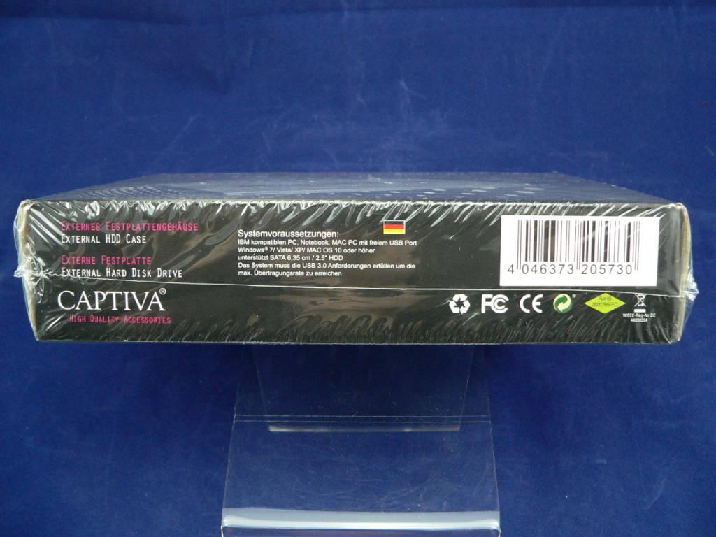 """2,5""""externes USB 3.0 Festplattengehäuse in Aluminium-Silber"""