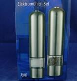 H-Line Elektromühlen Set, Salz- und Pfeffermühle, Gewürzmühlen