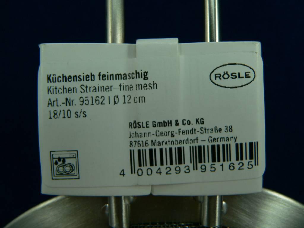 Rösle Küchensieb, Passiersieb, Abtropfsieb feinmaschig 12cm