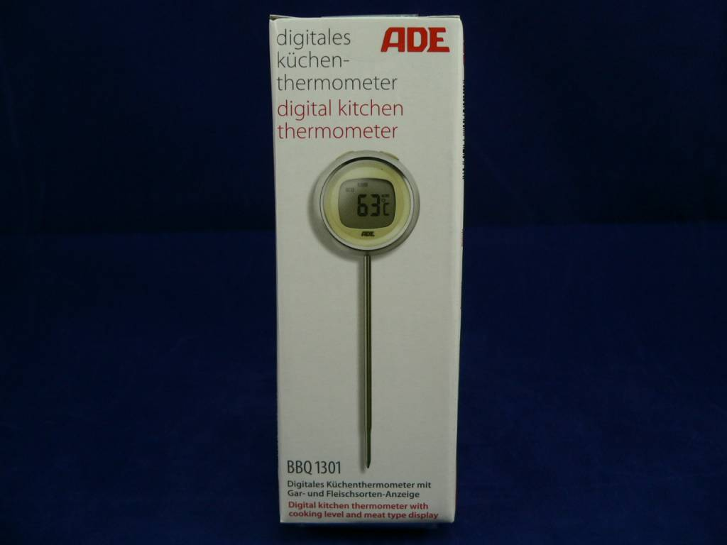 ADE Digitales Küchen-Thermometer, Grillthermometer, BBQ 1301