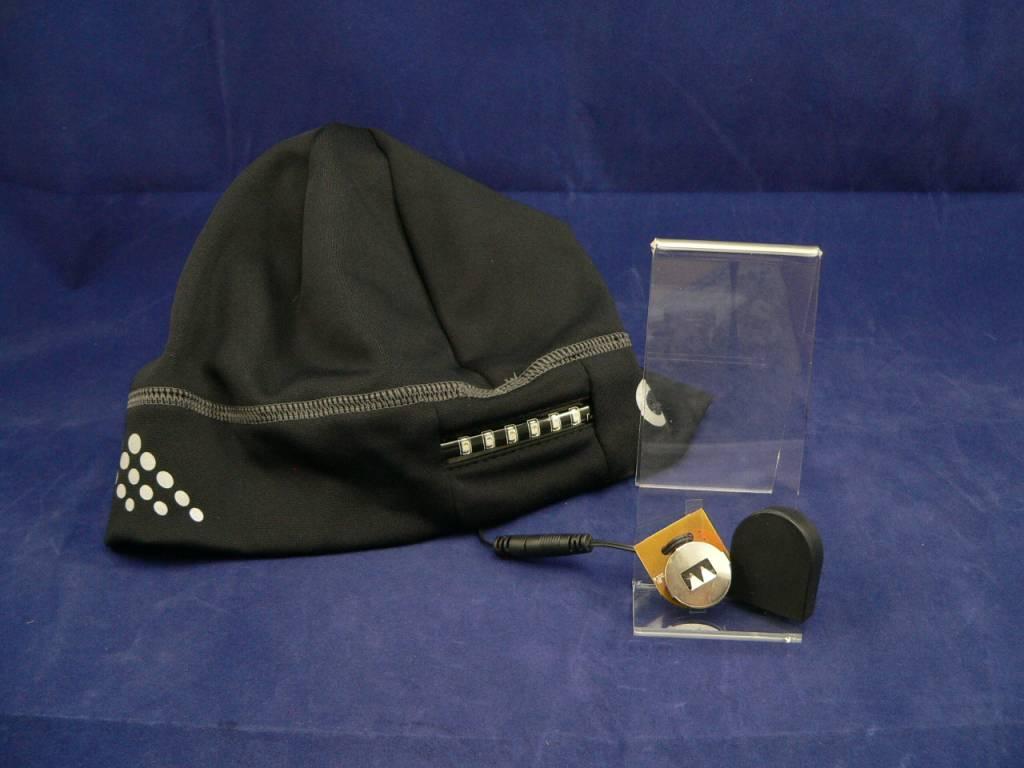 180S Strobeanie, LED-Beanie, LED-Mütze in schwarz