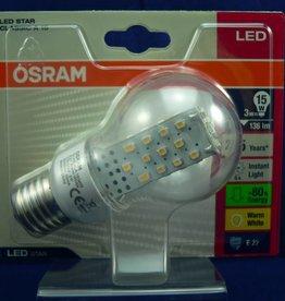 LED-Lampe von Osram in Birnen-/Tropfenform, 3W, E27, 220V, 136lm, Warmweiß