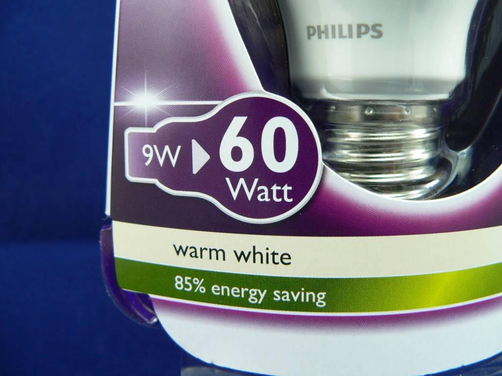 LED-Lampe von Philips in Birnen-/Tropfenform, 9W, E27, 220V, 806lm, Warmweiß