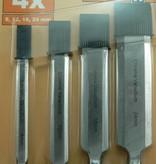 4er-Set Stemmeisen, Stechbeitel, Holzbeitel, 8, 12, 18, 24mm mit Holzgriff von meister
