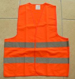 Warnweste, Sicherheitsweste, EN471-2003 Klasse 2, Universalgröße: XL in neonorange oder neongelb