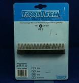 15tlg. Bitsatz/Bitset Bits PZ 2 25mm Hochleistungsstahl S2 von Tooltech