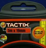 Maßband 5m, Rechtsbandmaß, mit Stopper/Feststeller von Tactix