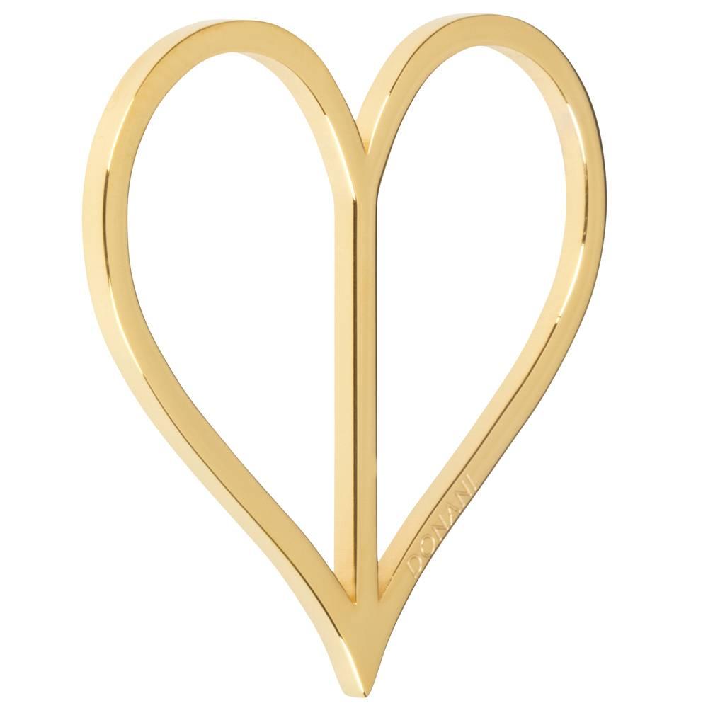 Dirndlspange in Herzform, in silber, gold oder roségold, von Donani, Tuchspange