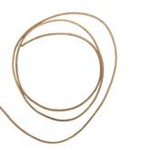 Lederband 1m x 2mm, in Schwarz, Grau oder Natur (Hellbraun), Rinderleder