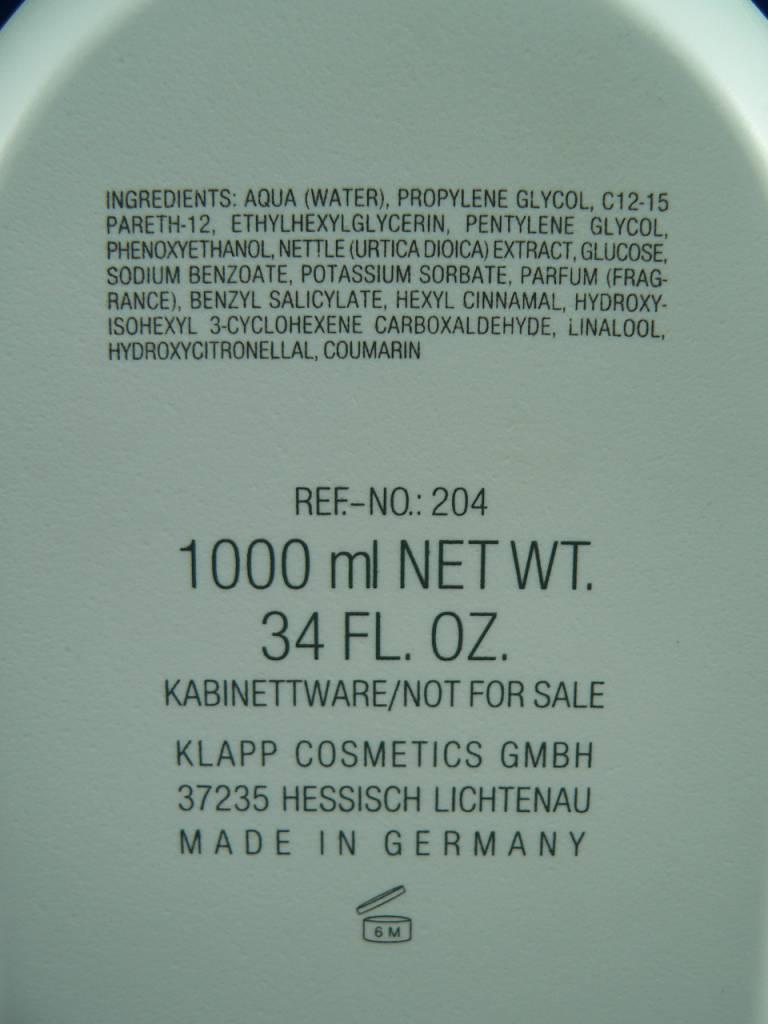 Klapp Professional Clean &. Active Tonic without Alcohol 1000ml