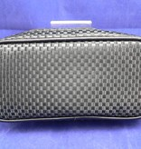 Kosmetiktasche von Maurice im schwarzen Carbon-/Karo-Design in groß