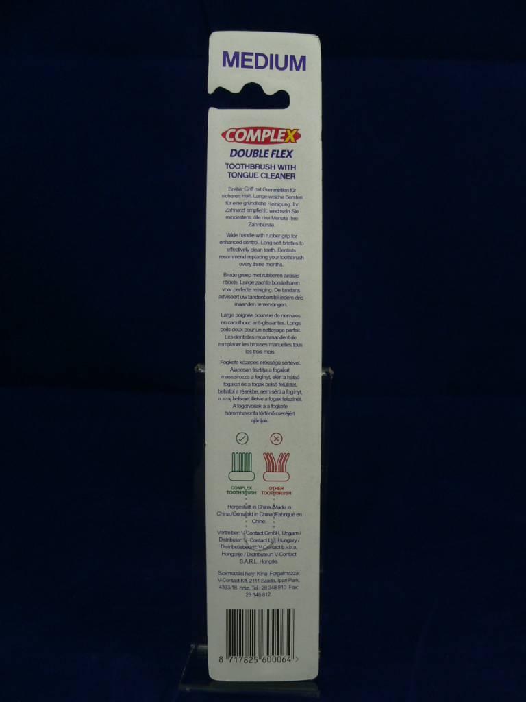 Eine Comlex Double Flex Handzahnbürste Medium