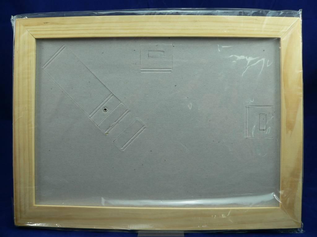 Echte Leinwand selbst bedrucken, Set mit 5 Leinwänden und 1 Rahmen