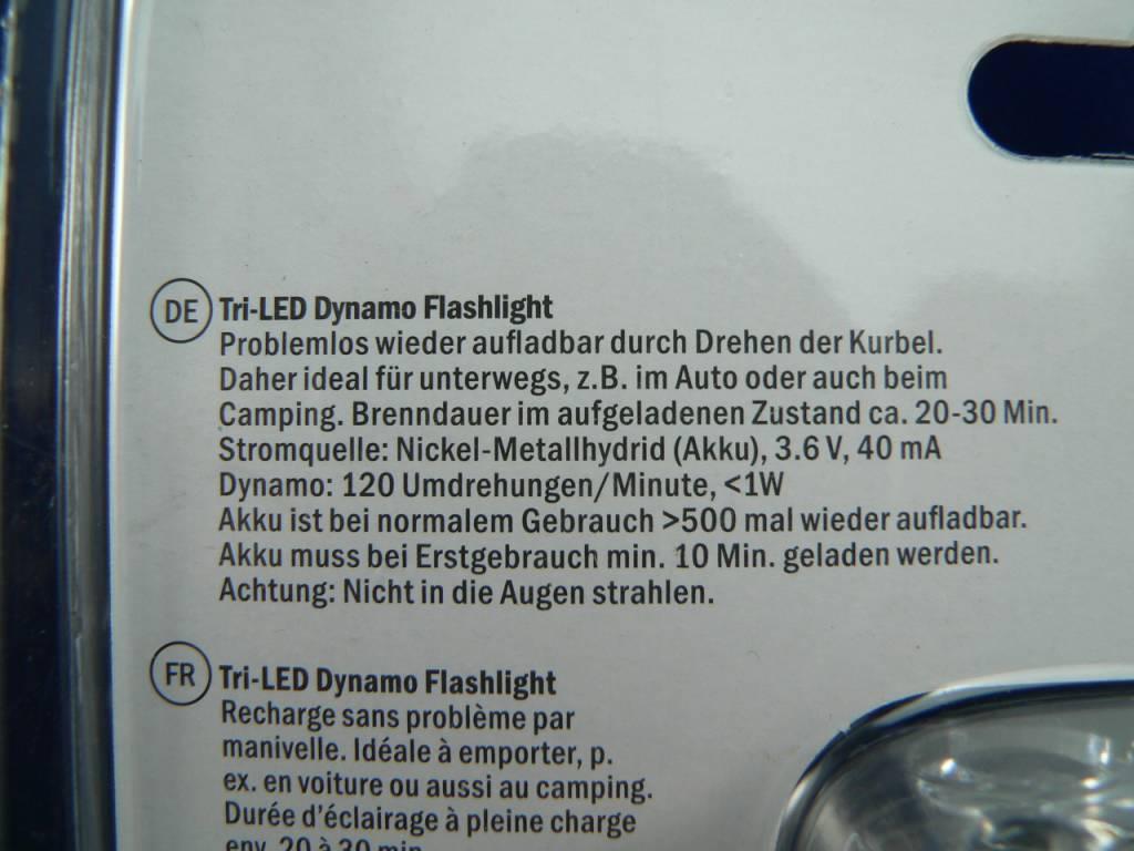Tri-LED Dynamo Taschenlampe