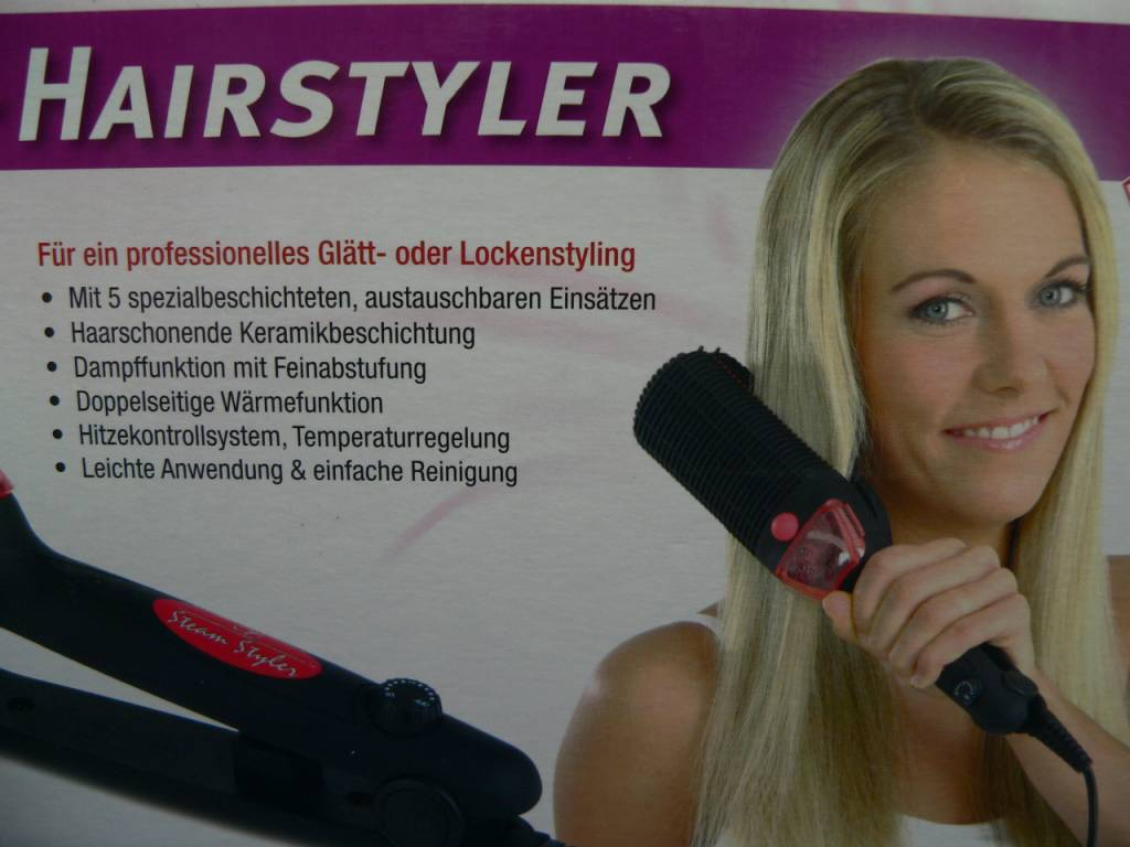 Profi-Dampf-Hairstyler Glätteisen