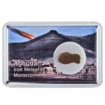 Agoudal meteorite in collectorsbox