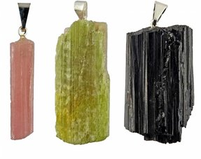 Tourmaline pendants