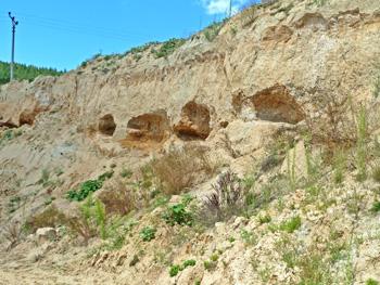 Zandlagen met Moldaviet