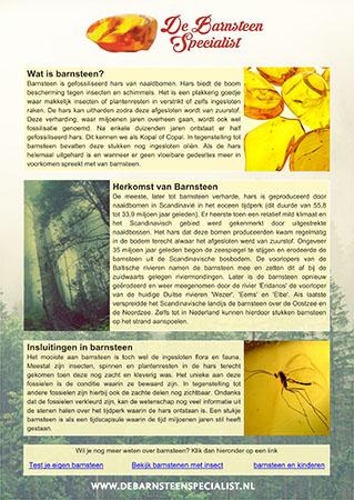 Barnsteen info sheet