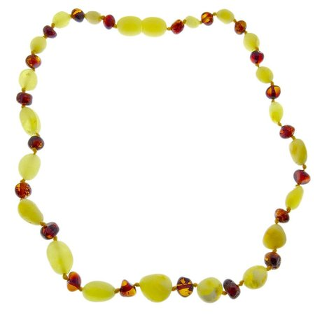 Amber Baby teething necklace round beads