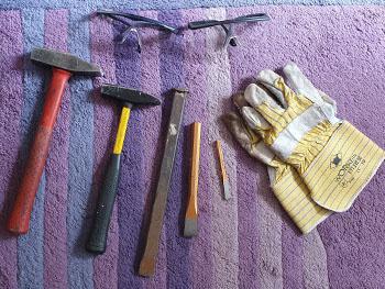 gereedschap om fossielen te zoeken