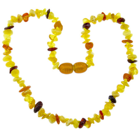Amber Baby teething necklace with mix color