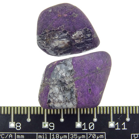 Natural purple mineral