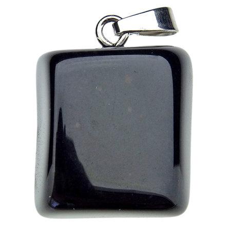 Beautiful Onyx pendant with silver eye