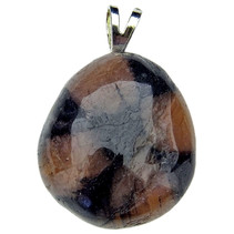 Chiastolite pendant with silver eye