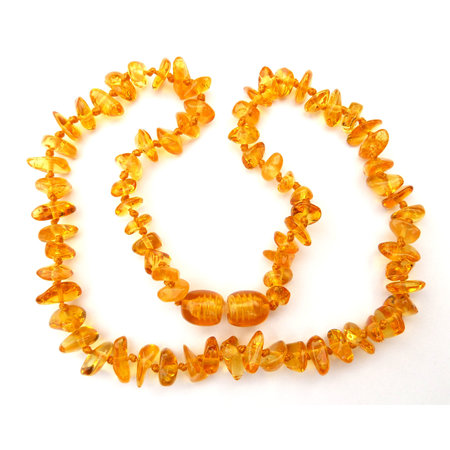 Amber Baby teething necklace honey color