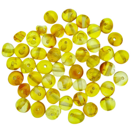50 pieces amber beads honey rounded 5-6 mm