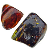 Tumbled stone from Baltic amber