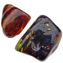 Baltic Amber tumbled stone, 2 stones