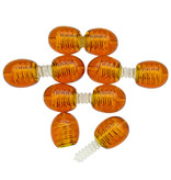 5 clasps for amber necklace or bracelet cognac