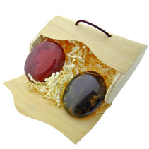 2 beautiful hand stones in an envelope box
