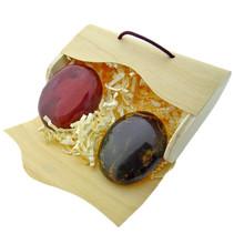 2 mooie handstenen in een envelop doosje