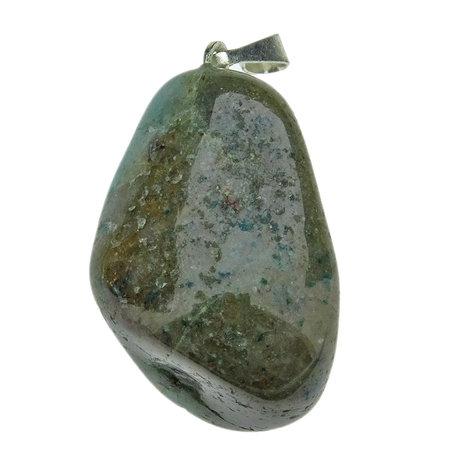 Shattuckiet trommelsteen van een blauw kopermineraal