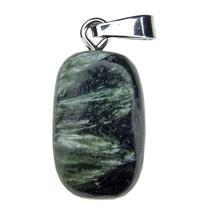 Seraphinite pendant with silver