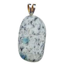 Hanger van K2 azuriet met zilveren oogje