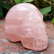 Skull van rozenkwarts